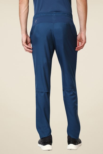 Puma Blue Solid Trackpants