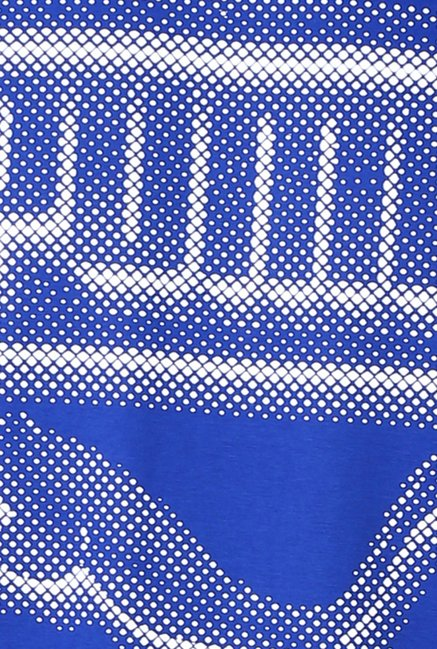 Puma Blue Graphic Printed T-shirt