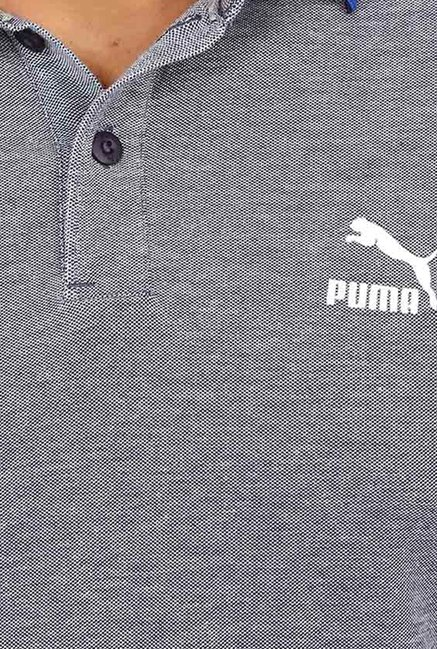 Puma Grey Solid T-shirt