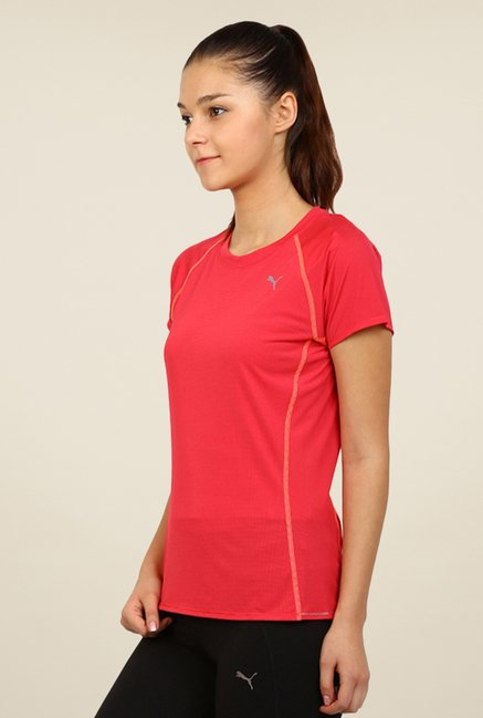 Puma Red Solid Tee