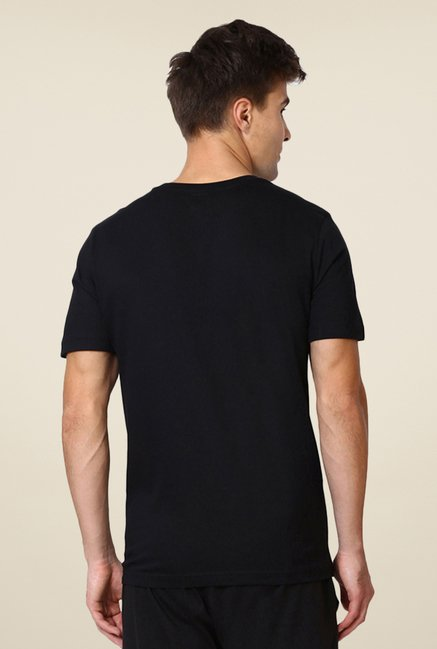 Puma Black Graphic Printed Casual T-shirt