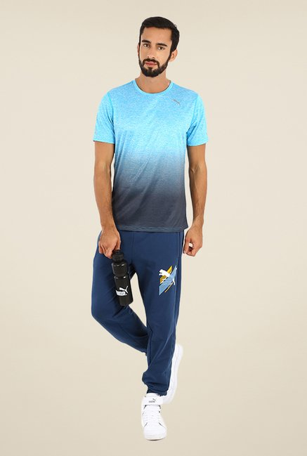 Puma Turquoise & Grey Ombre Print T-shirt