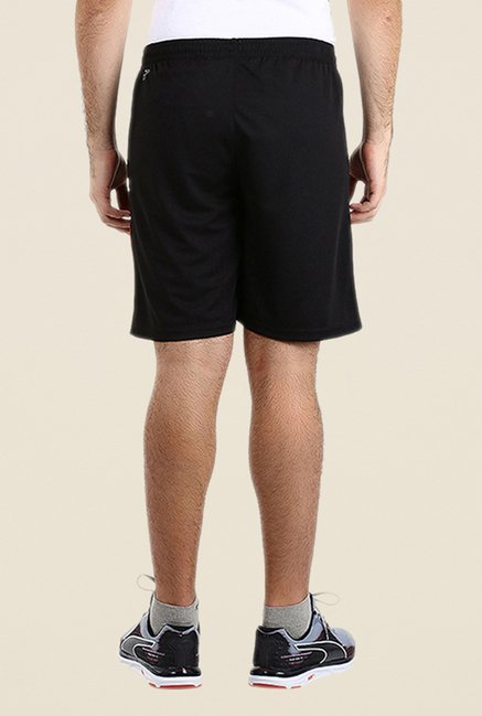 Puma Black Solid Polyester Shorts
