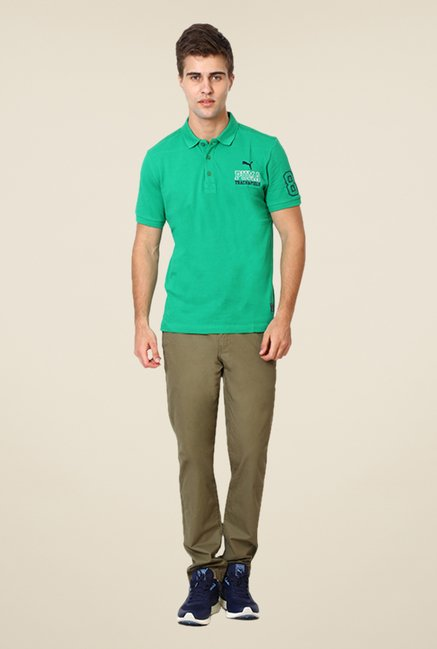 Puma Green Solid T-shirt