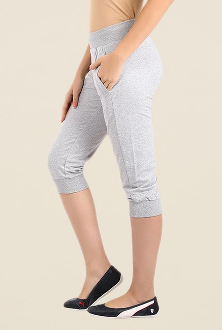 Puma Light Grey Solid Capris