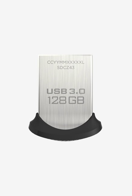 SanDisk ULTRA FIT 128 GB Pen Drive (Silver)