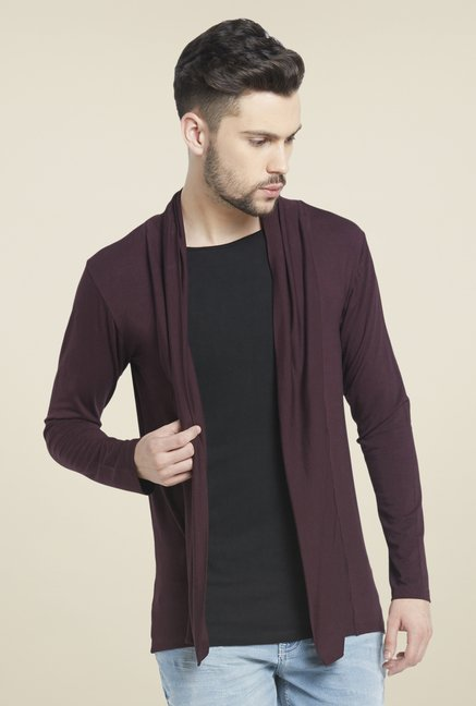 Globus Maroon Full Sleeves T Shirt