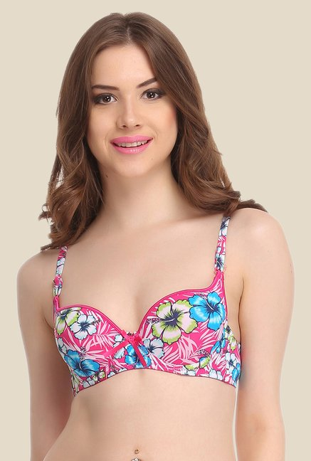 Clovia Light Pink Push Up Convertible Bra