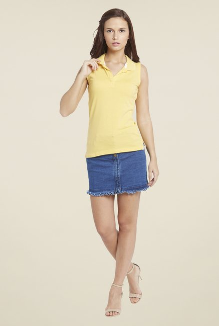Globus Yellow Solid T Shirt