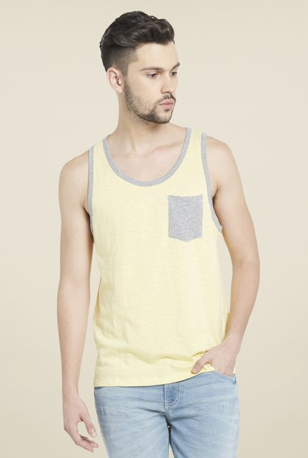 Globus Yellow Round Neck T Shirt