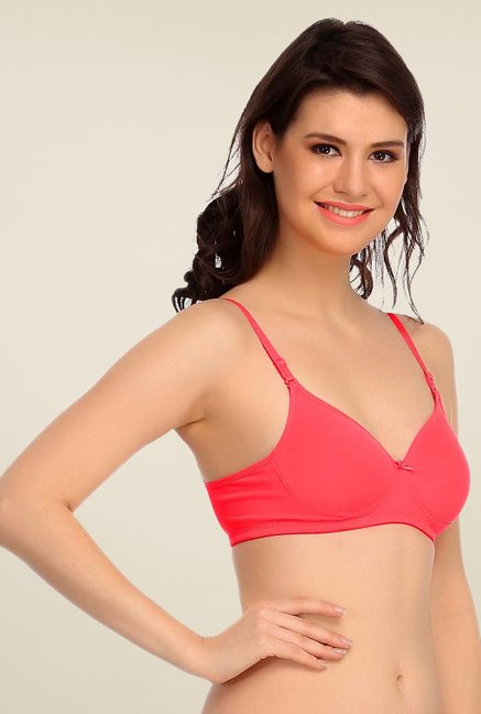 Clovia Coral Padded T Shirt Bra With Detachable Straps