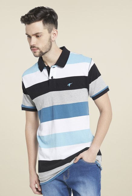 Globus Multicolor Striped Polo Cotton T Shirt