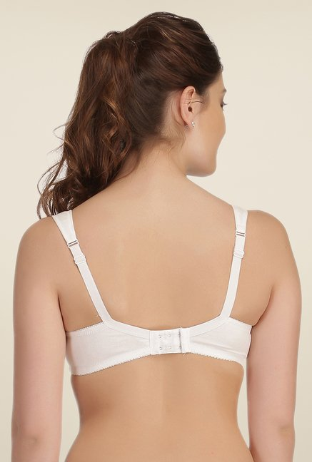 Clovia White Lycra Full Coverage Nursing Bra
