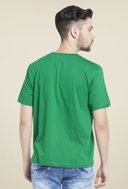 Globus Green Round Neck Cotton T Shirt