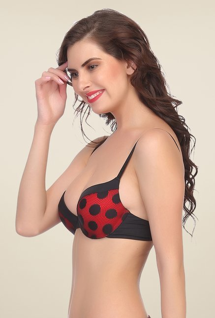 Clovia Red Push Up Padded Bra