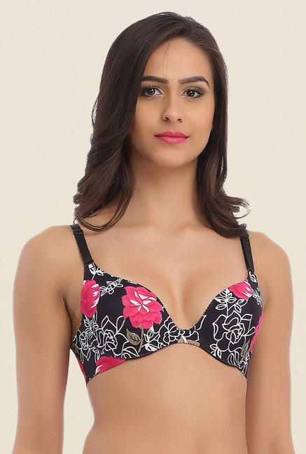 Clovia Black Laser Cut Padded Convertible Bra