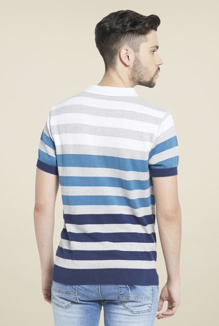 Globus Multicolor Striped Polo T Shirt