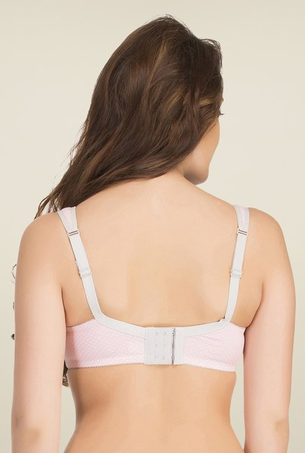 Clovia Light Pink Padded Nursing Bra With Removable Flaps