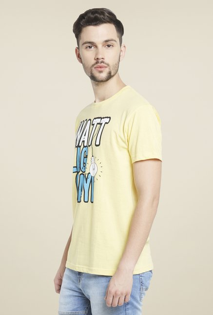 Globus Yellow Graphic Print T Shirt