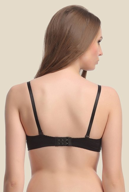 Clovia Black Padded Lace Convertible Bra