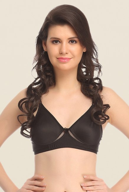 Clovia Black Non Padded Wirefree T Shirt Bra