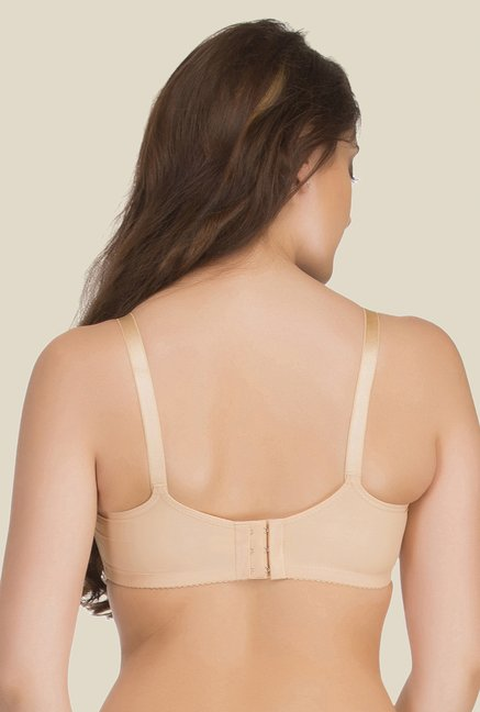 Clovia Beige Padded Non Wired T Shirt Bra