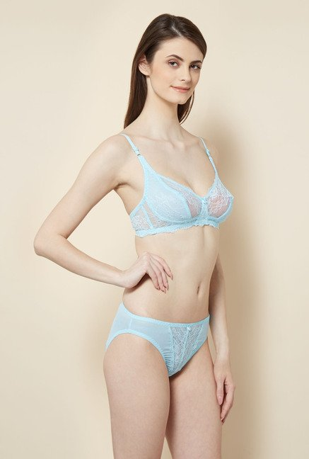 Little Lacy Sky Blue Lingerie Set