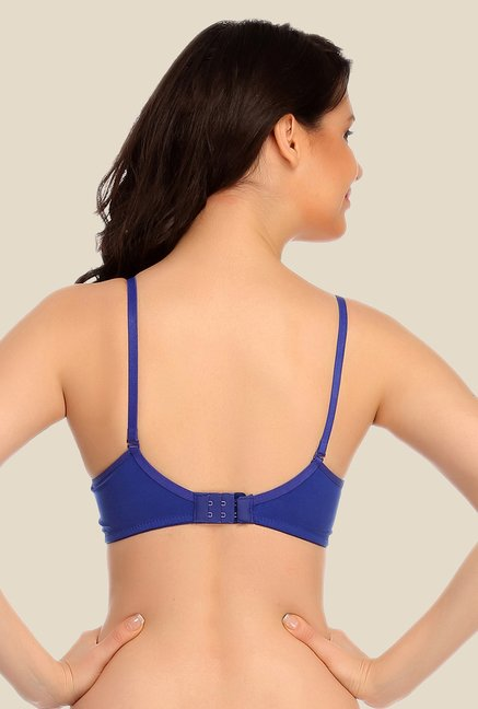 Clovia Blue Padded T Shirt Bra With Detachable Straps