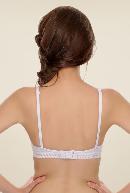 Clovia White Comfy Teenage Bra