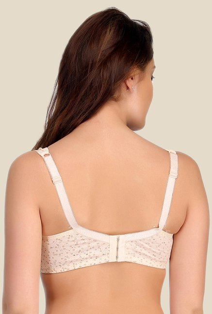 Clovia Beige Padded Nursing Bra With Removable Flaps