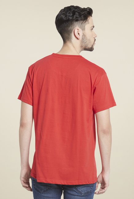 Globus Red Graphic Print Polyster T Shirt
