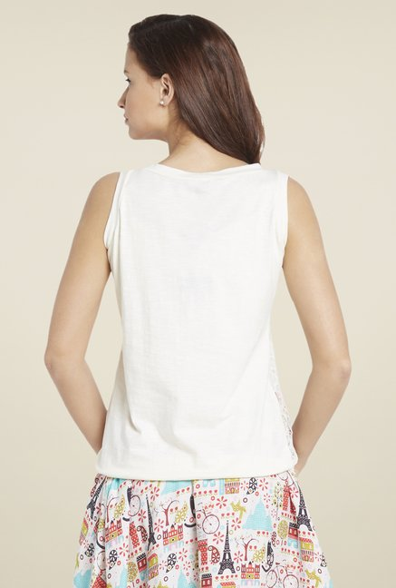 Globus White Lace Top