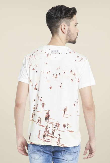 Globus Off White Graphic Print T Shirt