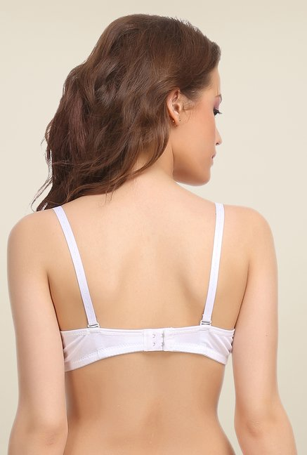 Clovia White Padded T Shirt Bra With Detachable Straps
