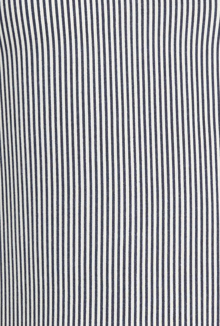Globus Navy Pin Striped Top