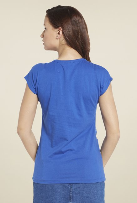 Globus Royal Blue Printed T Shirt