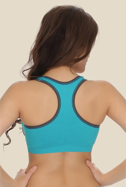 Clovia Blue Racerback Padded Sports Bra