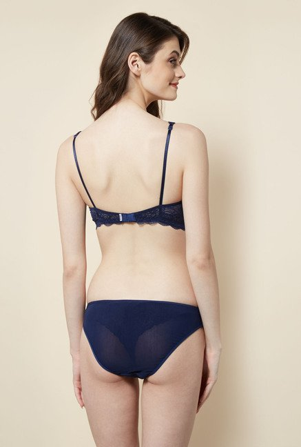 Little Lacy Navy Lace Lingerie Set