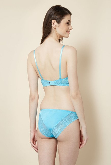 Little Lacy Sky Blue Lace Lingerie Set
