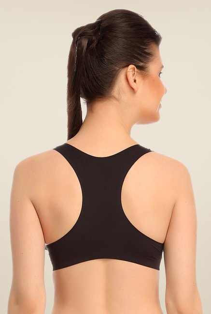 Clovia Black Padded Sports Bra