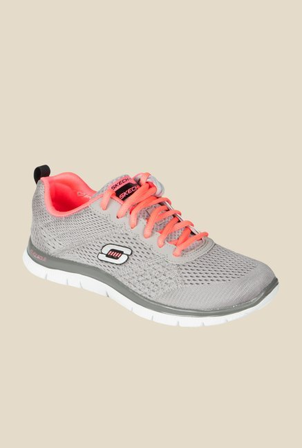 Skechers Flex Appeal Grey Running Shoes