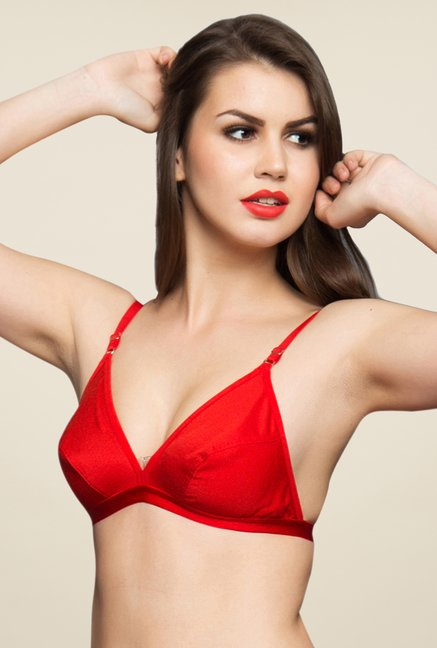 Clovia Red Non Padded T Shirt Bra