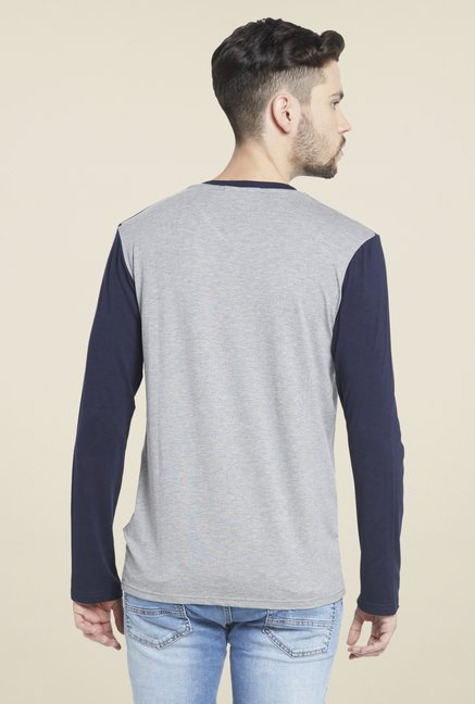 Globus Grey V Neck T Shirt