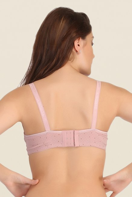 Clovia Pink Lycra Padded Non Wired Bra