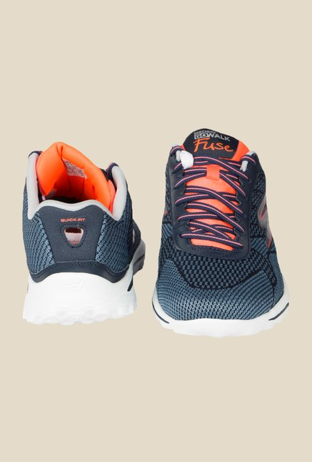 Skechers Go Walk 2 Fuse Navy Running Shoes