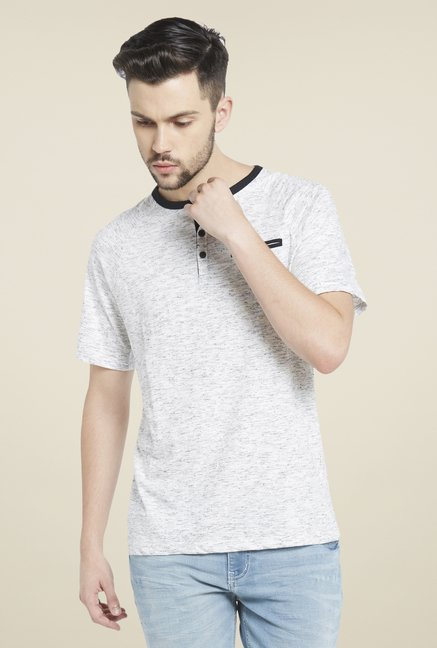 Globus White Henley Neck T Shirt