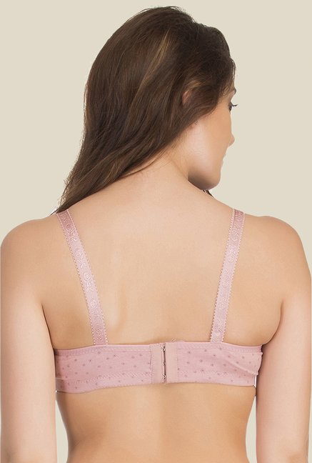 Clovia Pink Lycra Non Wired Padded Bra