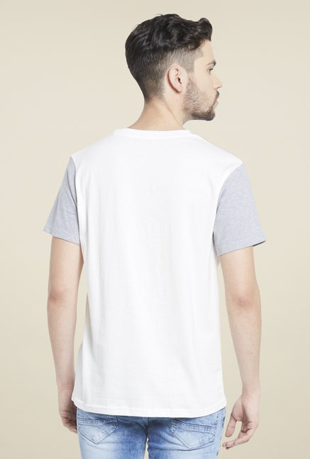Globus White Round Neck T Cotton Shirt