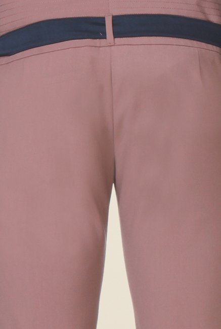 Kaaryah Blush Pink Solid Trouser