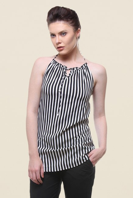 Kaaryah Black Striped Top